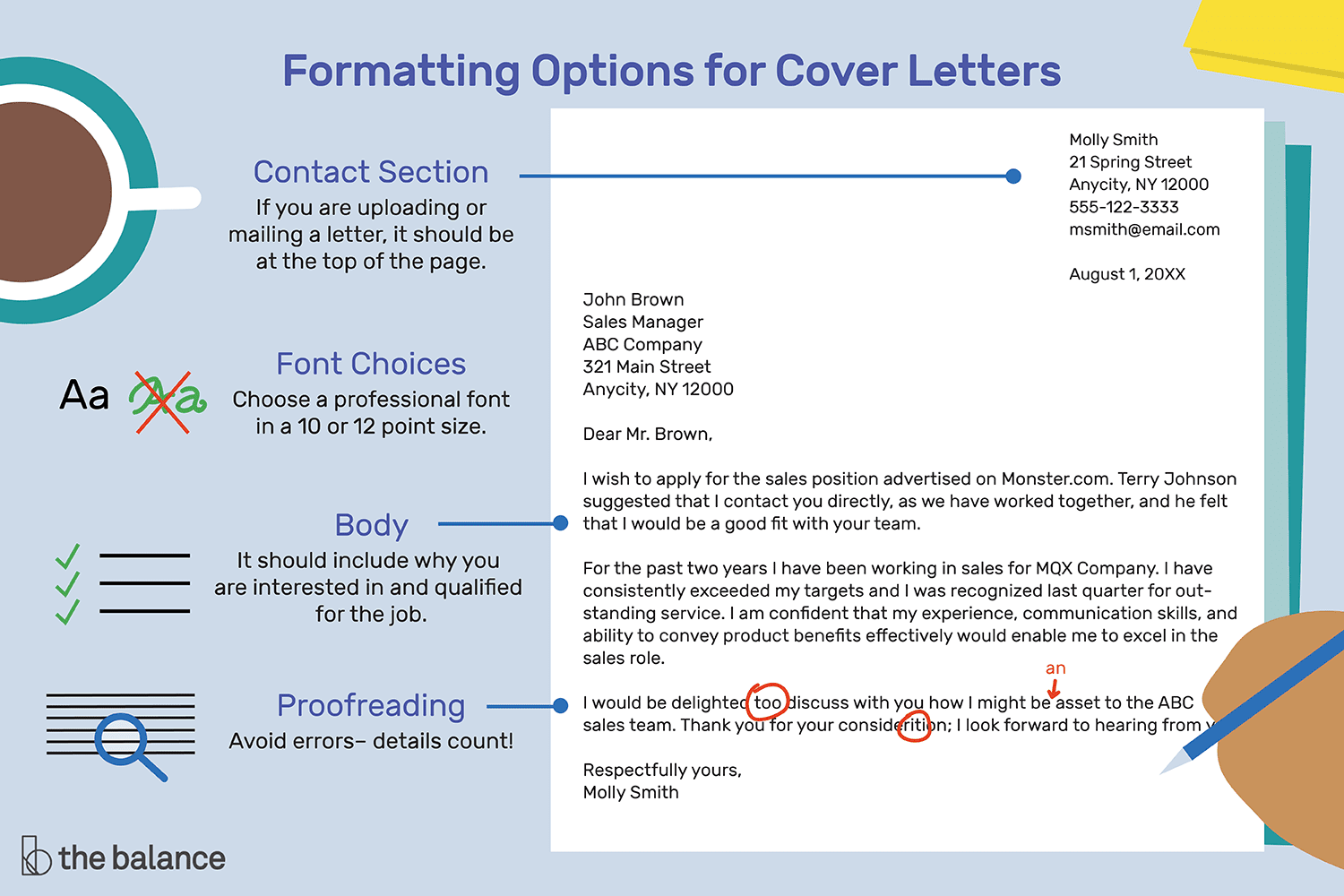 Use Correct Business Language Address Your Cover Letter